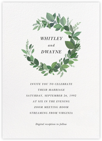 Natural Wreath (Invitation) - Paperless Post - Wedding Invitations