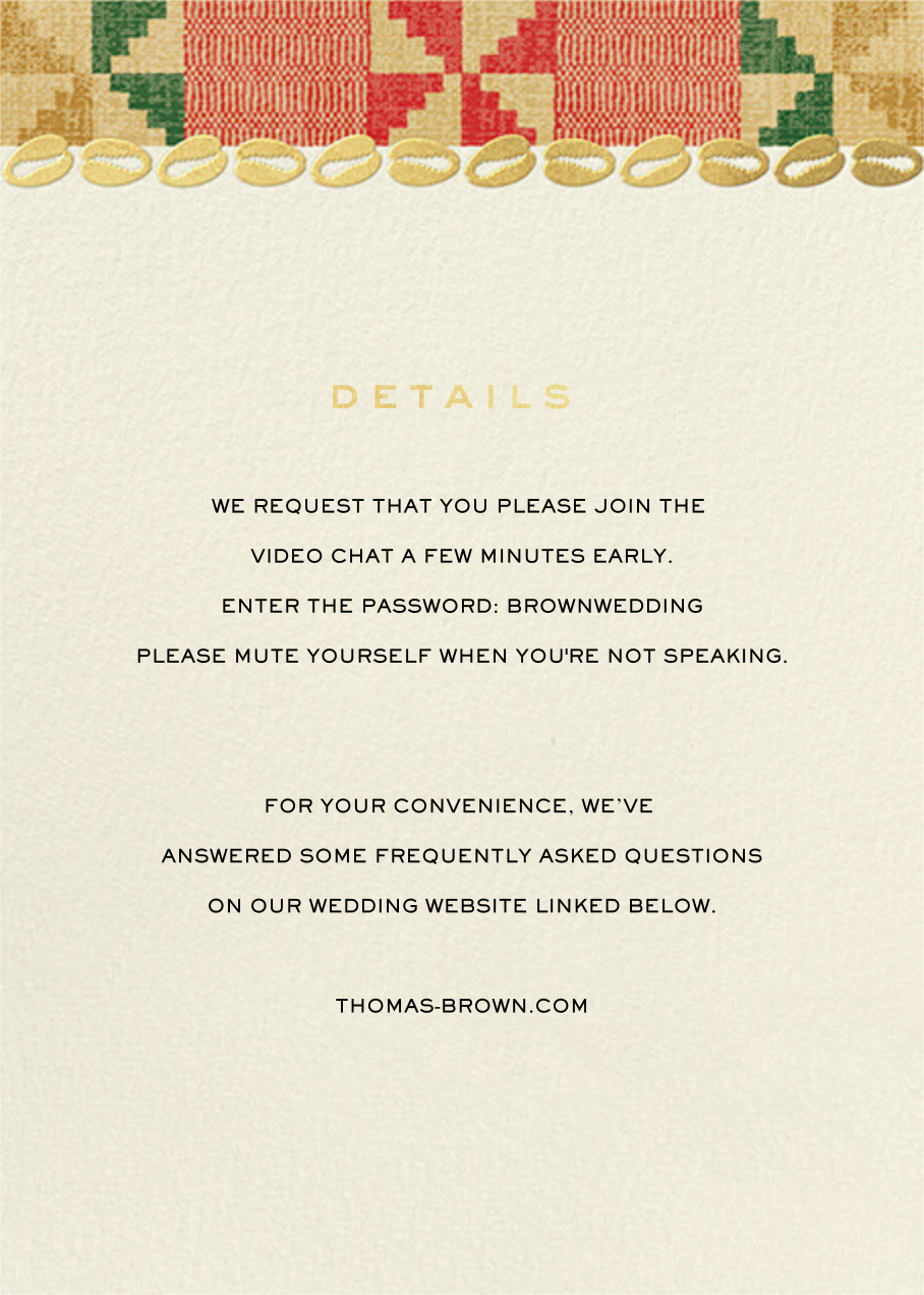 Cowrie (Invitation) - Paperless Post - All - insert front