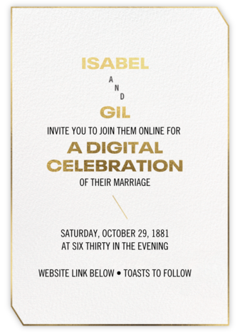 Golden Pair (Invitation) - Paperless Post - Virtual Wedding Invitations