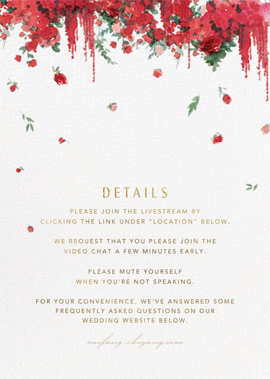 Cascading Florals (Invitation) - White - Paperless Post - All - insert front
