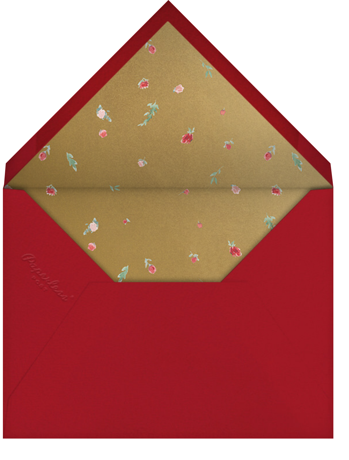Cascading Florals (Invitation) - Cranberry - Paperless Post - All - envelope back