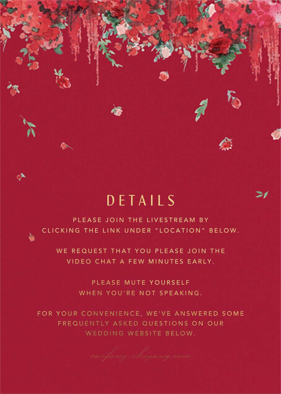 Cascading Florals (Invitation) - Cranberry - Paperless Post - All - insert front