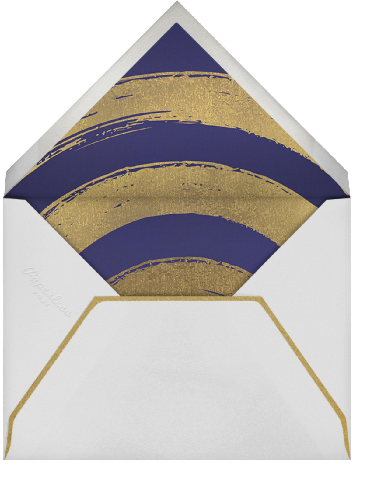Gold Connection (Bar) - Paperless Post - Bat and bar mitzvah - envelope back