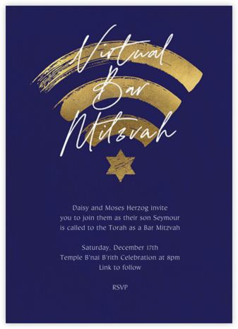 Gold Connection (Bar) - Paperless Post - Bat and Bar Mitzvah Invitations