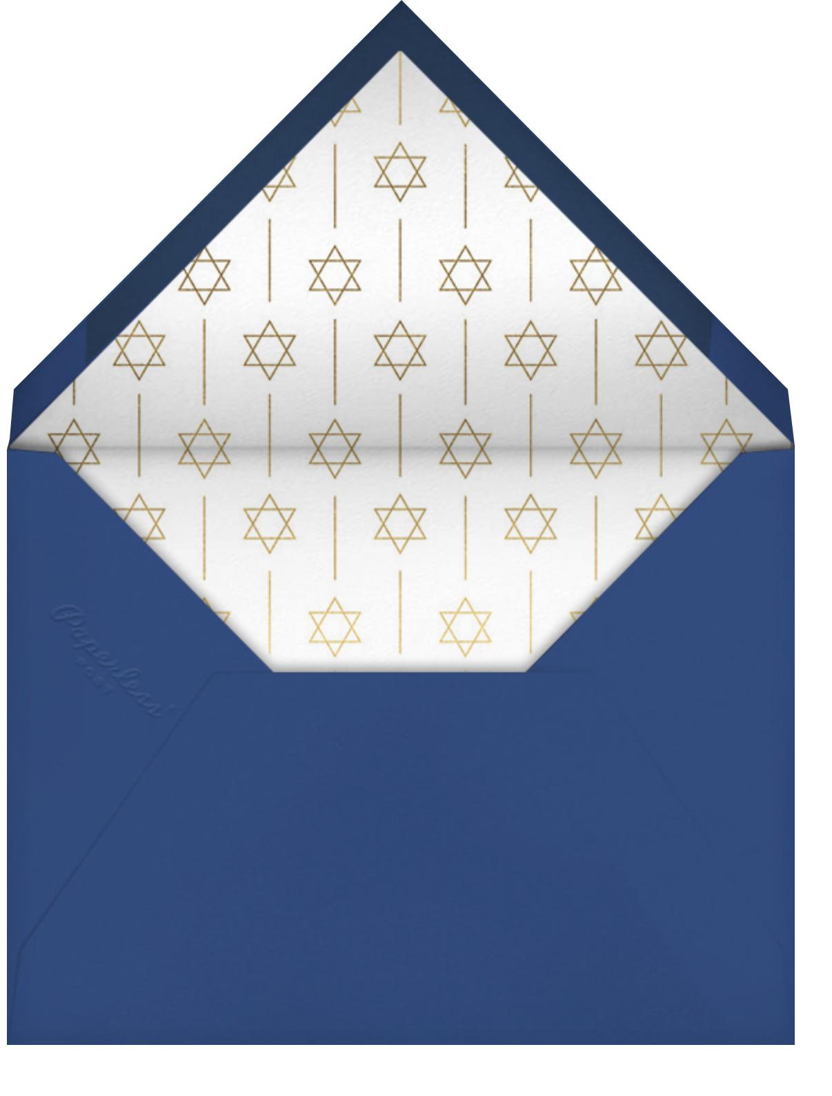 Momentous - Paperless Post - Bat and bar mitzvah - envelope back