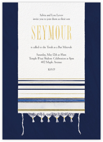 Striped Tallit - Paperless Post - Bat and Bar Mitzvah Invitations