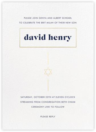 Momentous - Paperless Post - Bris and baby naming invitations