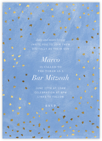 Flurry - Antwerp - Kelly Wearstler - Bat and Bar Mitzvah Invitations