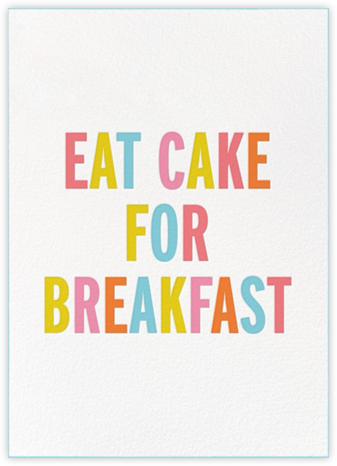 Eat Cake for Breakfast (Tall) - kate spade new york -