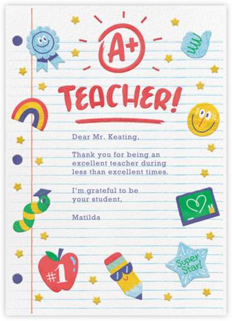 A+ Teacher - Paperless Post -
