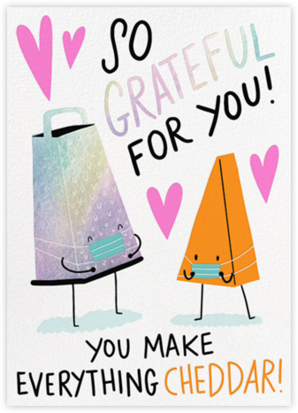 Cheddar with You - Hello!Lucky - Covid greeting cards