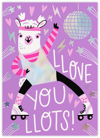 Llama Love - Hello!Lucky - Just Because Cards