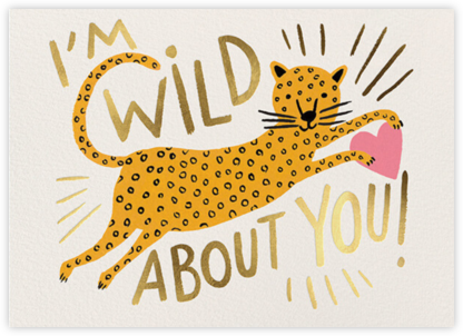 Wild About You Leopard - Rifle Paper Co. - Valentine's Day Cards