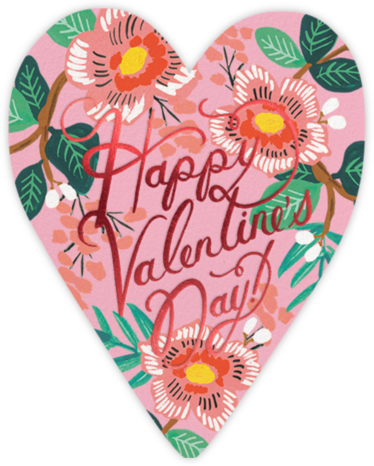 Heart Blossom Valentine's Day - Rifle Paper Co. - Valentine's Day Cards