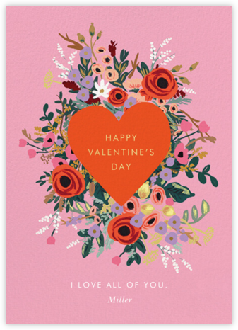 Blooming Heart Valentine's Day - Rifle Paper Co. - Valentine's Day Cards