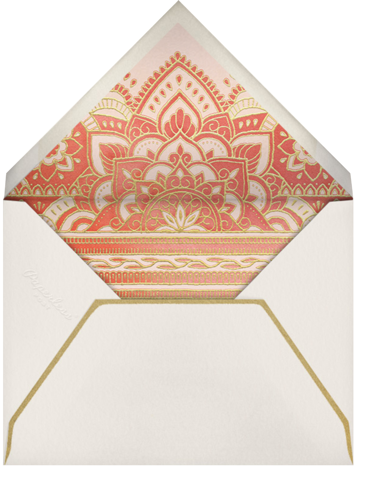 Golden Paisley (Invitation) - Red - Paperless Post - All - envelope back