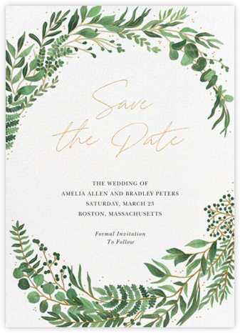 Verde (Save the Date) - Paperless Post - Save the dates