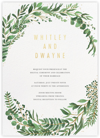 Verde (Invitation) - Paperless Post - Wedding Invitations