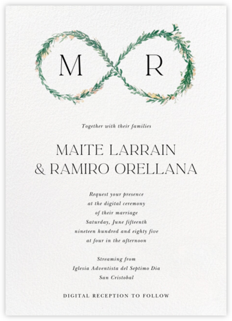 Young Leaves (Invitation) - Paperless Post - Virtual Wedding Invitations
