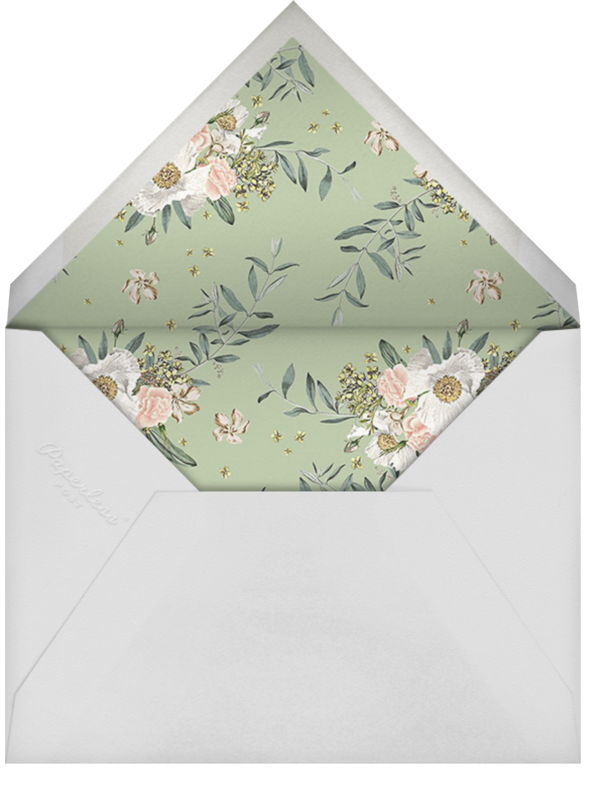 Mirabelle (Invitation) - Paperless Post - Bridal shower - envelope back
