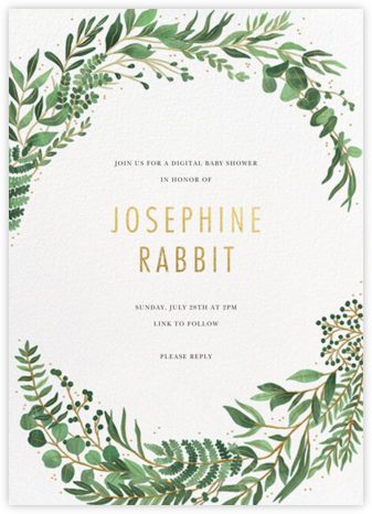 Verde (Invitation) - Paperless Post - Baby Shower Invitations
