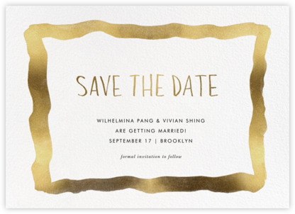 Watercolor Frame - Gold - Linda and Harriett - Save the dates