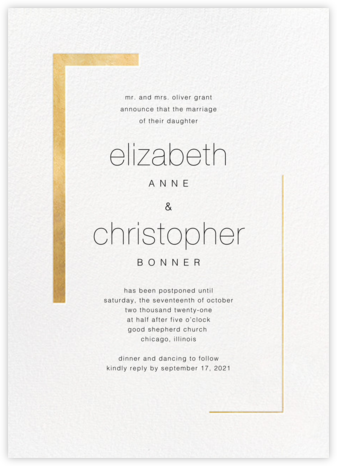 Ando (New Date) - Gold - Paperless Post - Save the dates