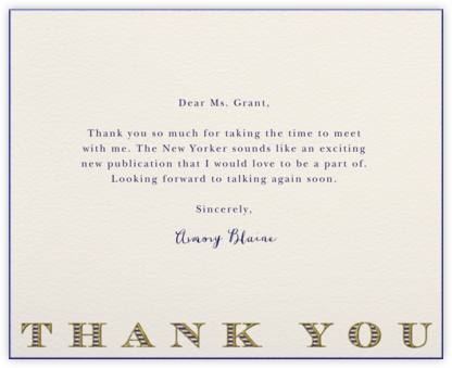Striped Thank You (Navy) - Paperless Post -