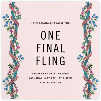 Climbing Blossoms - Blush - Stephanie Fishwick - Bachelorette Party Invitations