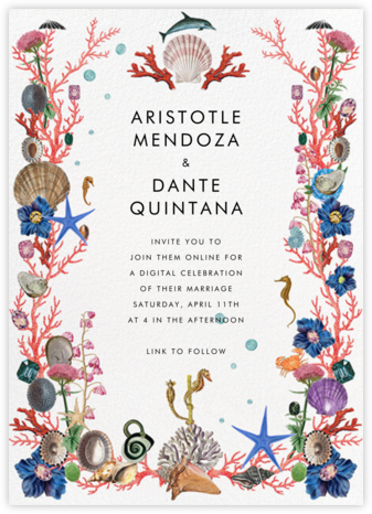 Oceana (Invitation) - Stephanie Fishwick - Virtual Wedding Invitations