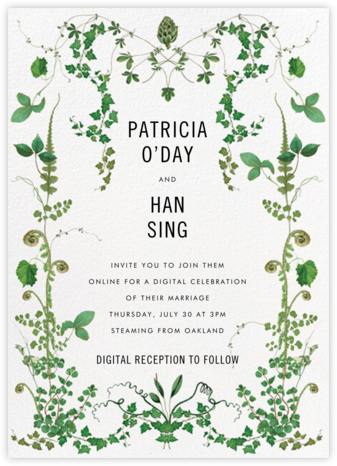 Mystic Forest (Invitation) - Stephanie Fishwick - Virtual Wedding Invitations