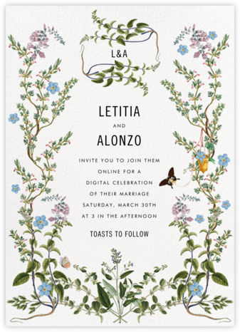 Herbaceous (Invitation) - Stephanie Fishwick - Virtual Wedding Invitations