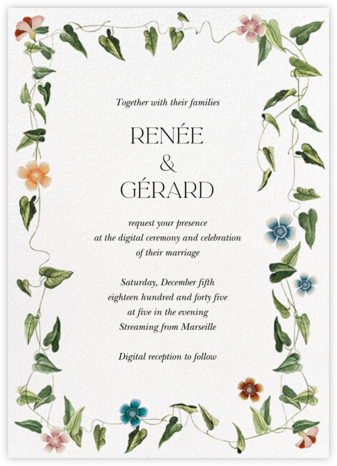 Ivy Tangle (Invitation) - Stephanie Fishwick - Virtual Wedding Invitations