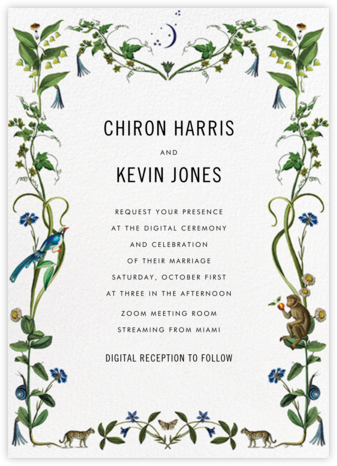 Wild Menagerie (Invitation) - Stephanie Fishwick - Virtual Wedding Invitations