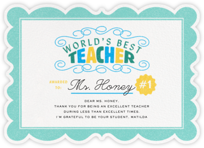 Certified Teacher - Paperless Post - Online Thank You Cards