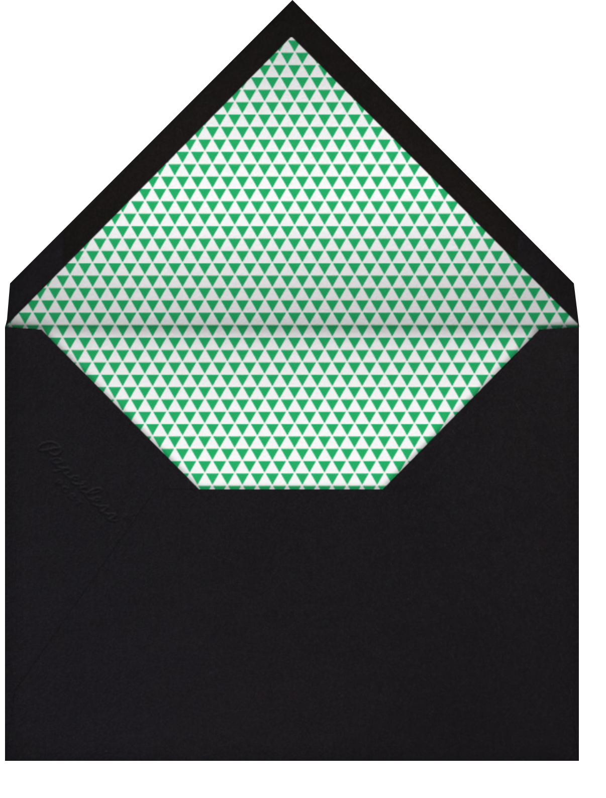 Savoy (Photo) - Emerald - Paperless Post - Adult birthday - envelope back