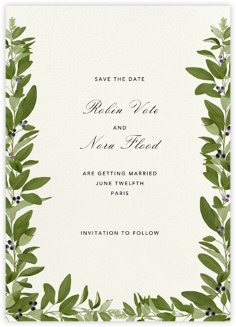 Lush Vines (Save the Date) - Felix Doolittle - Save the dates