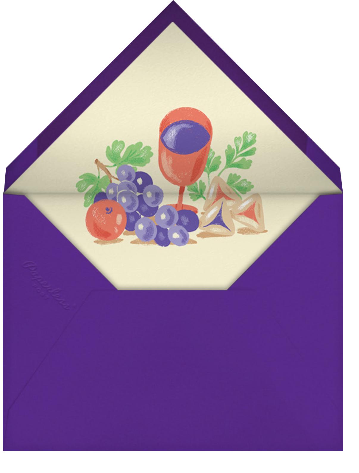 Purim Seudah - Paperless Post - Envelope