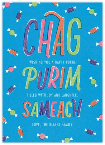 Chag Purim Sameach (Greeting) - Paperless Post -