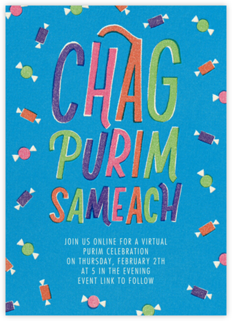 Chag Purim Sameach (Invitation) - Paperless Post -