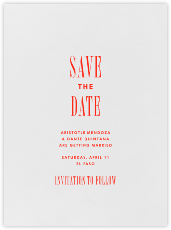 Quai I - Geranium - Paperless Post - Save the dates