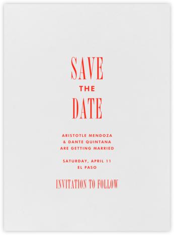 Quai I - Geranium - Paperless Post - Save the dates