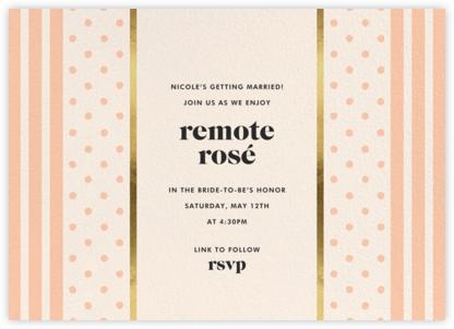 Centered - Sherbet - kate spade new york - Bridal shower invitations