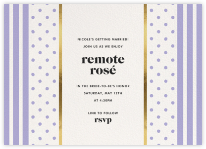 Centered - Lavender - kate spade new york - Invitations