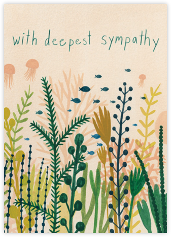 Underwater Sympathy (Kate Pugsley) - Red Cap Cards -