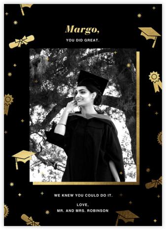 Grad Confetti - Black - Paperless Post -