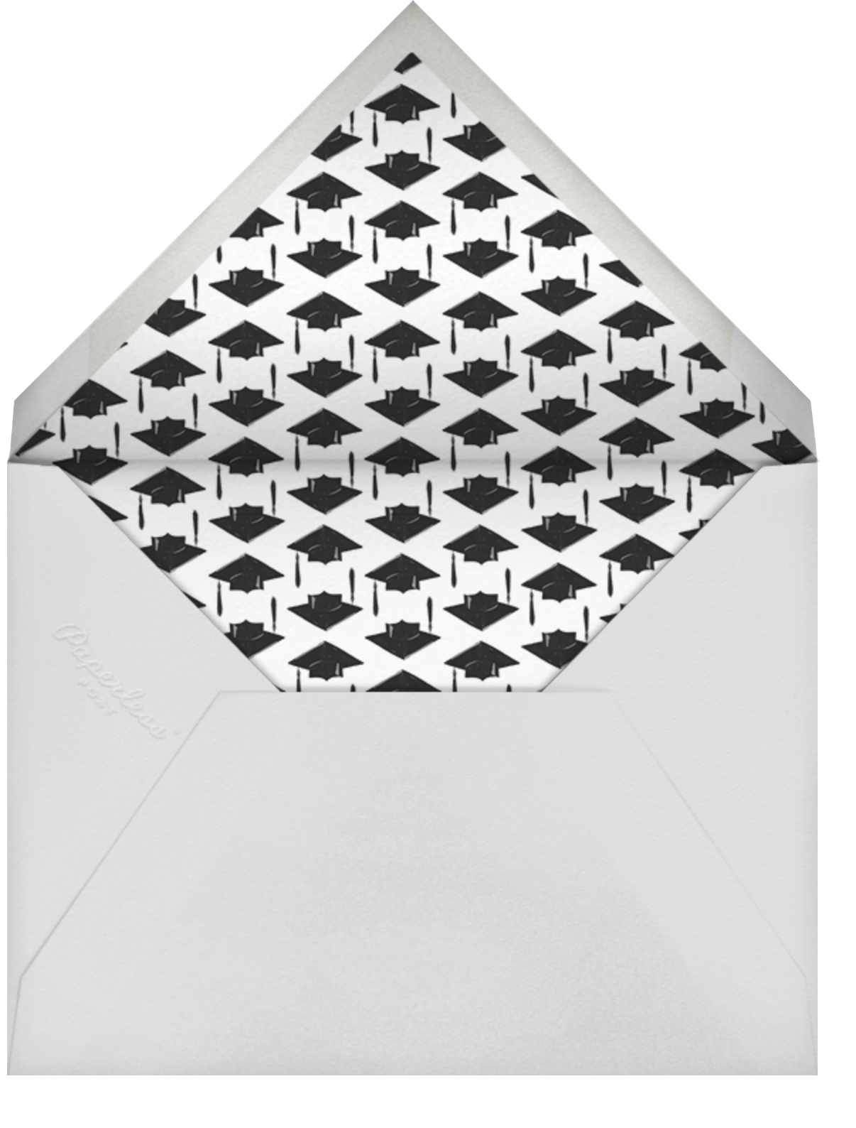 Photo Spread - White - Paperless Post - Graduation party - envelope back