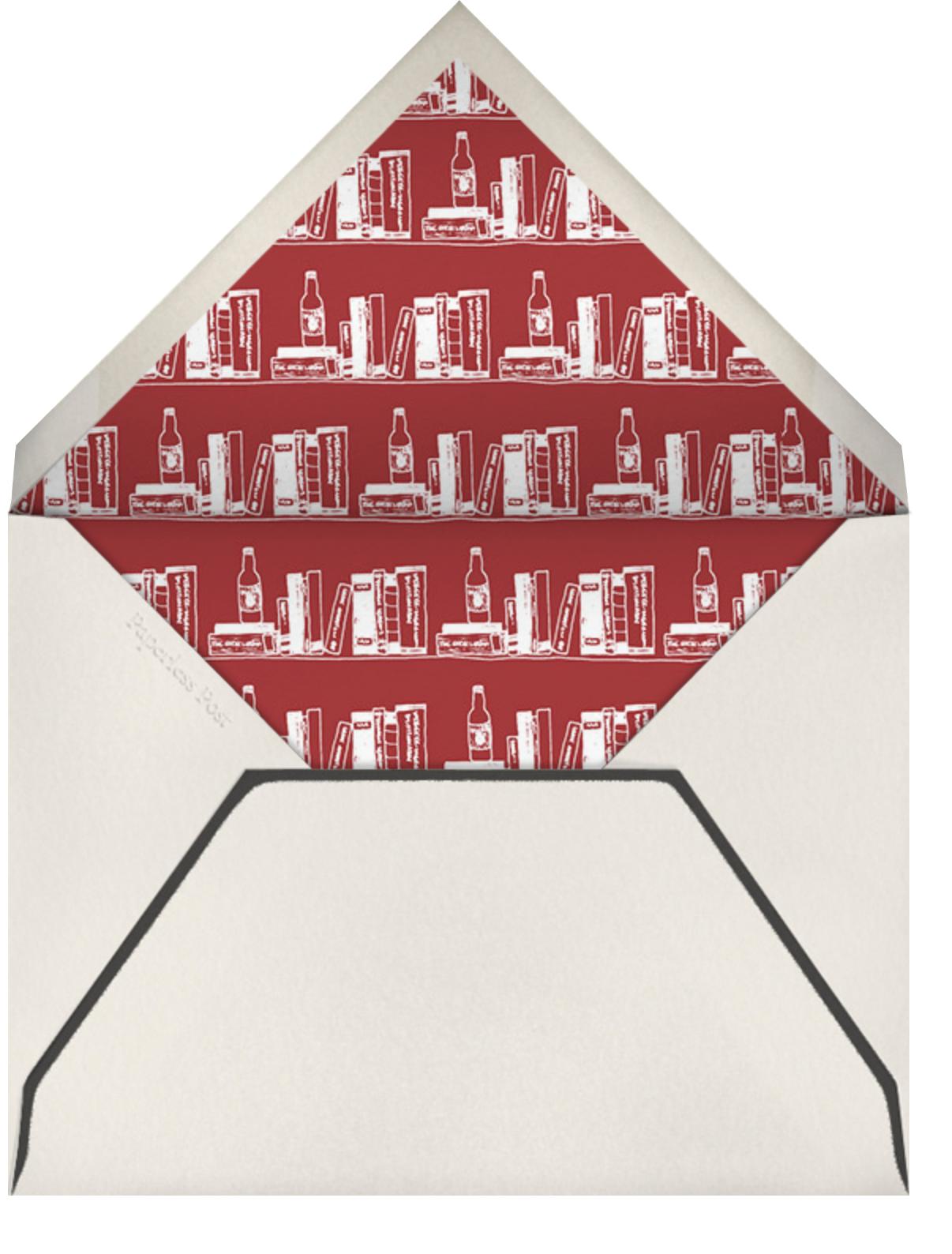 Cap and Glasses Border - Paperless Post - Envelope