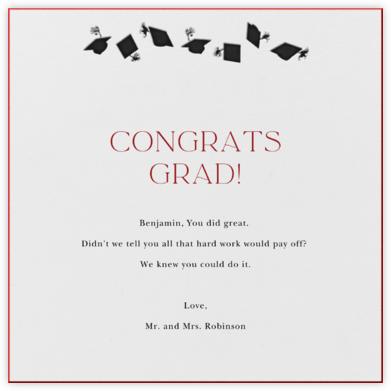Graduation Hats (Square) - Paperless Post