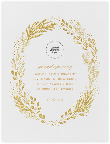 Winter Garden I (Card) - Gold - Paperless Post - Launch Party Invitations
